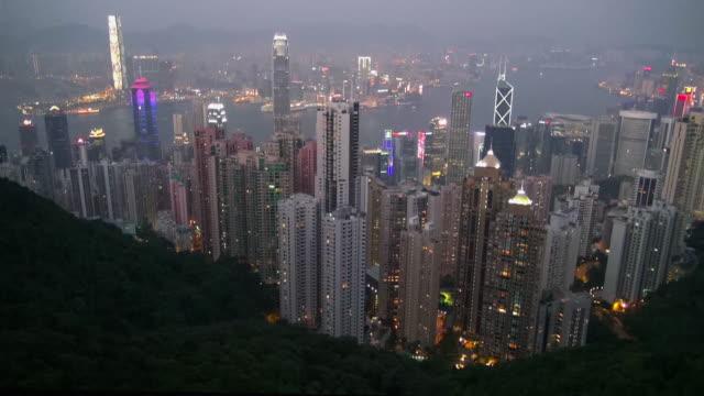 vídeos de stock e filmes b-roll de hong kong victoria peak - victoria peak