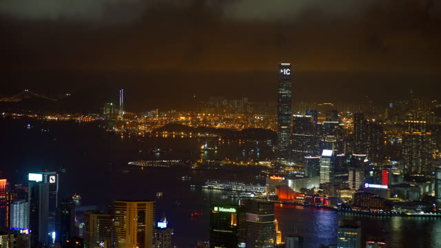 hong kong, victoria peak - victoria peak stock videos & royalty-free footage