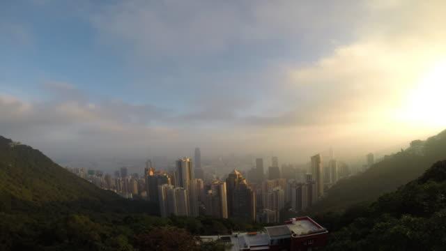 vidéos et rushes de hong kong victoria peak. - victoria peak