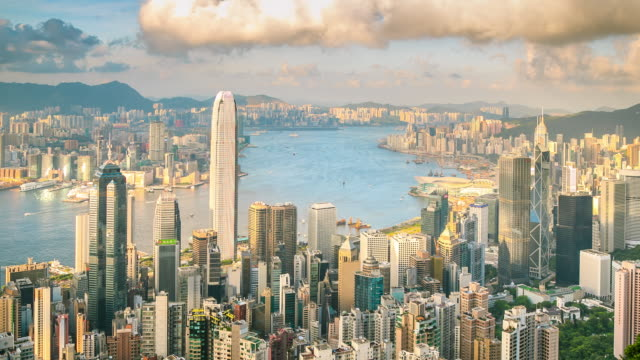 hong kong viewpoint - hong kong stock videos & royalty-free footage