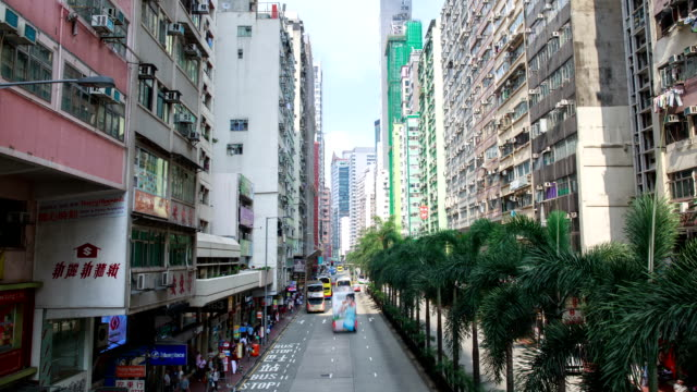hong kong, wan chai station area and apartment at day time scenery - wan chai stock videos & royalty-free footage