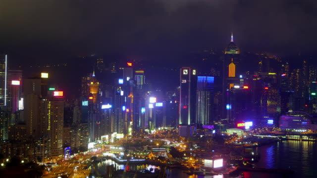 Hong Kong Waterfront At Night