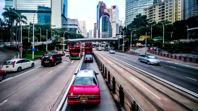 hong kong,china-nov 14,2014: driving through the downtown of hong kong,china - china east asia stock videos & royalty-free footage