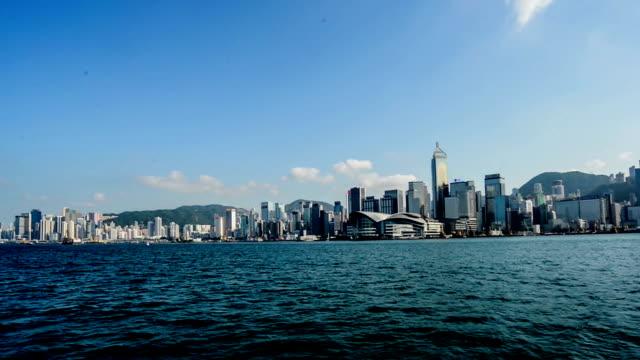 hong kong,china-nov 14,2014: the different view by sailing on the sea, hong kong,china - passenger craft stock videos & royalty-free footage