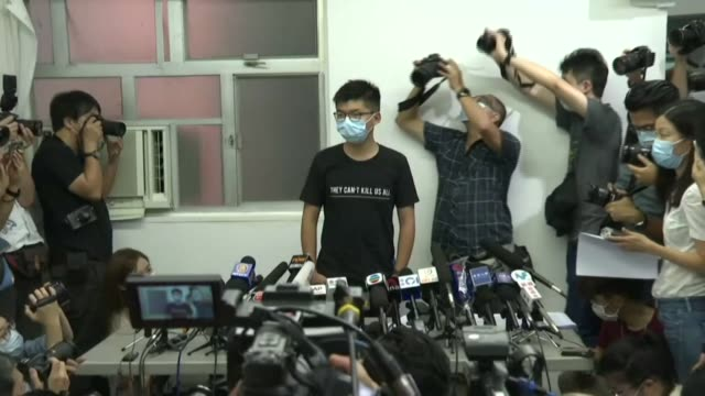 hong kong's beleaguered democracy camp will continue to fight beijing's crackdown on the city's political freedoms prominent dissident joshua wong... - other stock videos & royalty-free footage