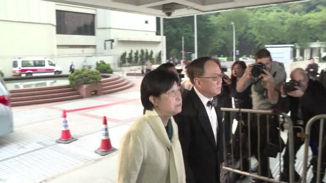 hong kong's former leader donald tsang arrives at the high court for the first day of his corruption trial - legal trial stock videos & royalty-free footage