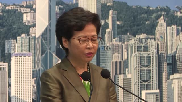 hong kong's leader brushes off a warning by major tech companies including google, facebook and twitter that they may quit the financial hub if... - big tech stock videos & royalty-free footage