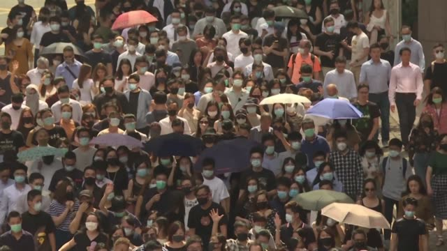 hong kong's leader invoked colonial era emergency powers friday to ban protesters wearing face masks but the move aimed at quelling months of unrest... - rebellion stock videos & royalty-free footage