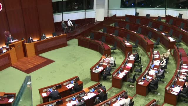 hong kong's legislature is empty of pro-democracy lawmakers thursday after the bloc said they would resign en masse, turning the semi-autonomous... - soft focus stock videos & royalty-free footage