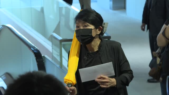 hong kong's pro-democracy legislators hand in letters of resignation at the city's legislative council in protest at the beijing-sanctioned ousting... - soft focus stock videos & royalty-free footage