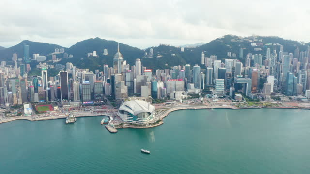 hong kongs skyline - central plaza hong kong stock-videos und b-roll-filmmaterial