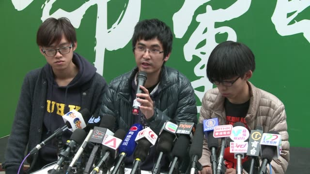 hong kongs student protest leaders say they will stay to the end as police prepare to swoop on the citys main rally site after more than two months... - occupy central stock videos & royalty-free footage