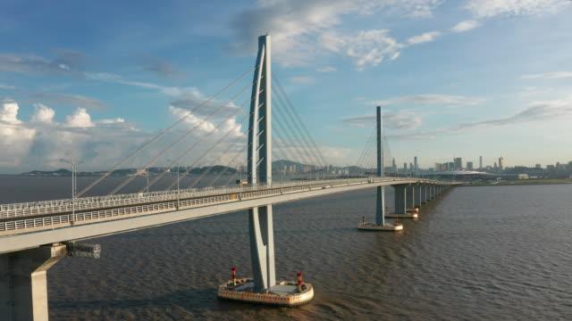 vídeos y material grabado en eventos de stock de hong kong-zhuhai-macao bridge - macao