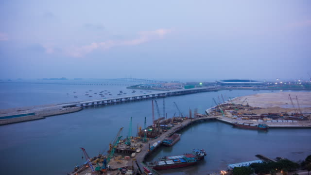 Hong Kong-Zhuhai-Macau Bridge Construction Site time-lapse