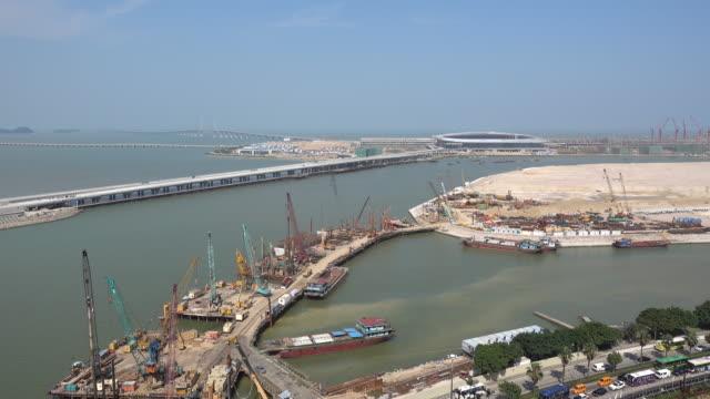 Hong Kong–Zhuhai–Macau Bridge Under Construction