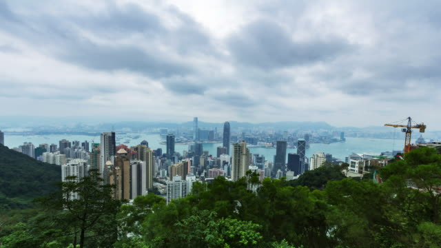 hongkong hd timelapse of from victoria peak - victoria peak stock videos & royalty-free footage