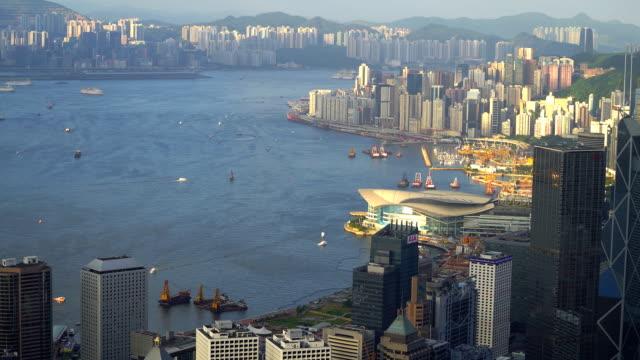 香港の街並み - ビクトリアピーク点の映像素材/bロール