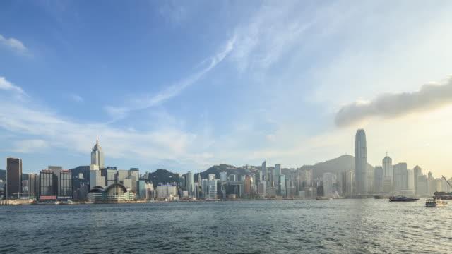 vidéos et rushes de t/l ws td hongkong victoria - île de hong kong