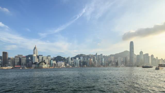 vidéos et rushes de t/l ws hongkong victoria - île de hong kong