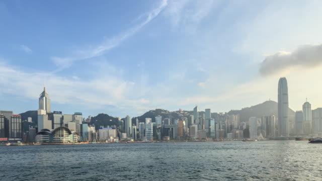 vidéos et rushes de t/l ws zo hongkong victoria - île de hong kong