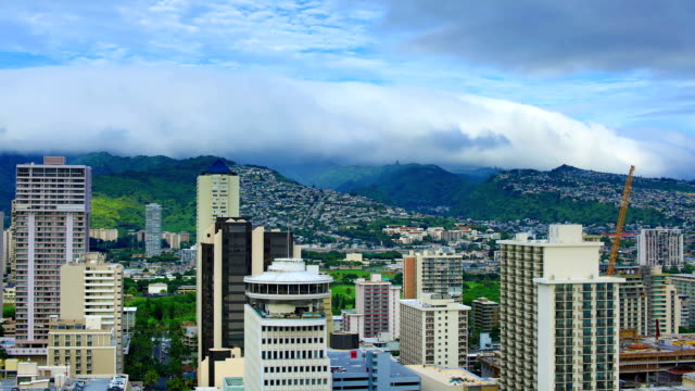 stockvideo's en b-roll-footage met honolulu: dag timelapse - oahu