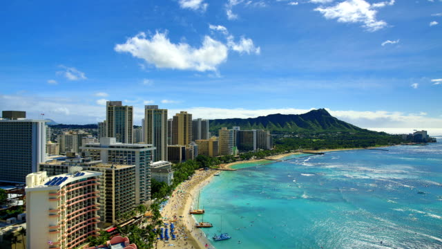 honolulu: day time lapse - hawaii islands stock videos & royalty-free footage