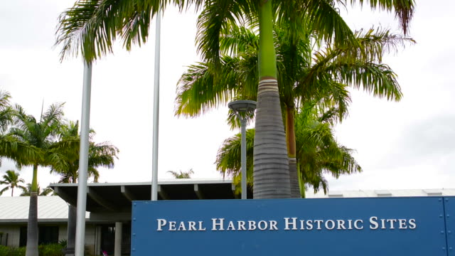 honolulu, hawaii pearl harbor memorial war dead japan bombing entrance - pearl harbor stock videos and b-roll footage