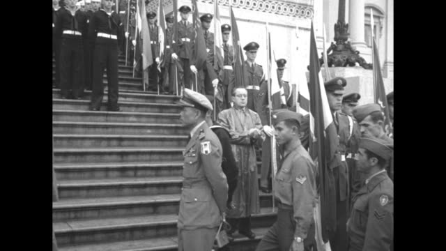 honor guard of soldiers and us marines outside the us capitol / korean war veterans from various countries / us capitol / female veterans marching... - hand on heart stock videos & royalty-free footage