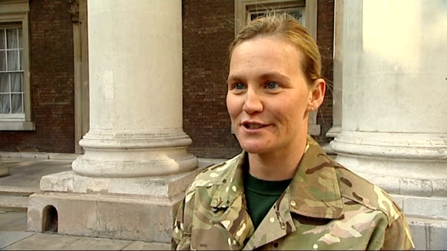 honours handed out for acts of gallantry; michelle ping interview sot - absolutely brilliant - so nice to be here - humbling to hear everybody elses... - only boys stock videos & royalty-free footage