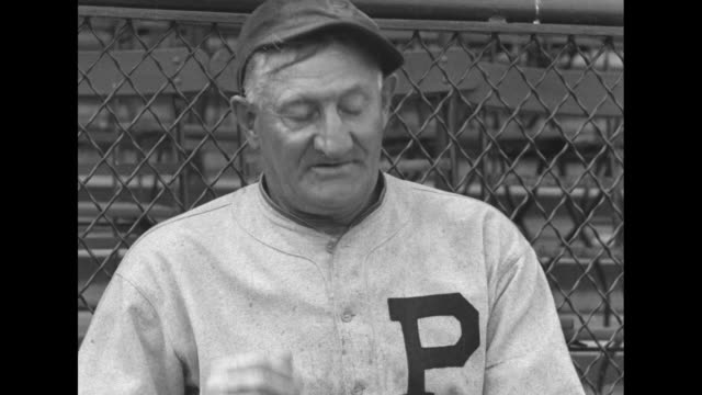 sot honus wagner says he started playing baseball in 1889 when he was 15 years old joined the major league in 1897 with the louisville colonels and... - baseball bat stock videos & royalty-free footage