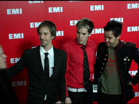 hoobastank at the emi post-grammy awards bash at the beverly hilton in beverly hills, california on february 13, 2005. - emi grammy party stock videos & royalty-free footage