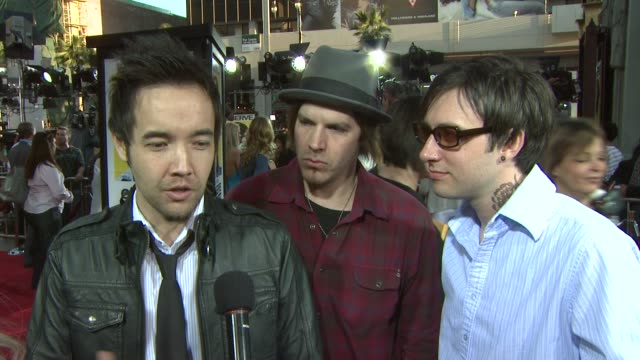 hoobastank on what they like most about seth rogen if they have ever had any altercations with mall cops and about their album that came out in... - seth rogen stock videos and b-roll footage