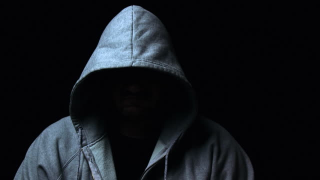 hooded killer - hooded top stock videos & royalty-free footage