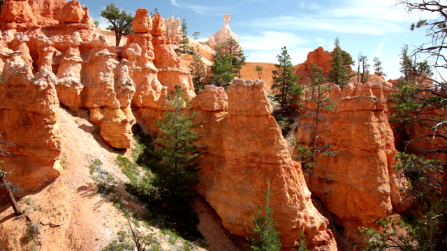 hoodoos in bryce canyon - sedimentary rock stock videos and b-roll footage