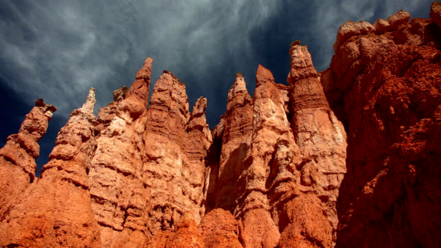 hoodoos in bryce canyon - canyon stock videos and b-roll footage