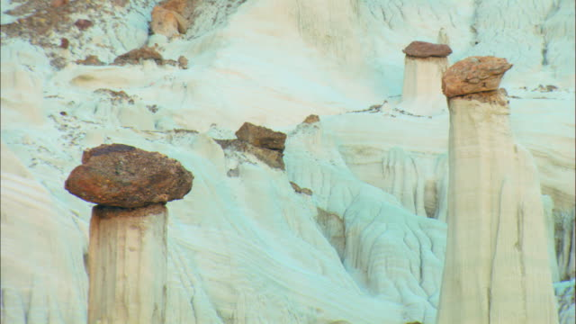 cu, hoodoos rock formations, grand staircase-escalante national monument, utah, usa - grand staircase escalante national monument stock-videos und b-roll-filmmaterial