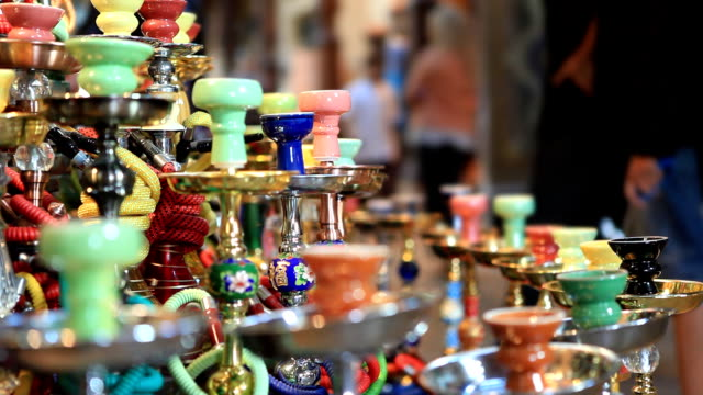 shisha souvenir - water pipe stock videos and b-roll footage