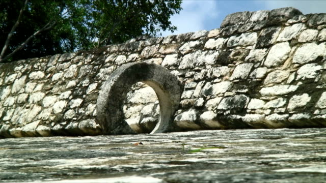 cu zo hoop in mayan ball court - latin american civilizations stock videos and b-roll footage