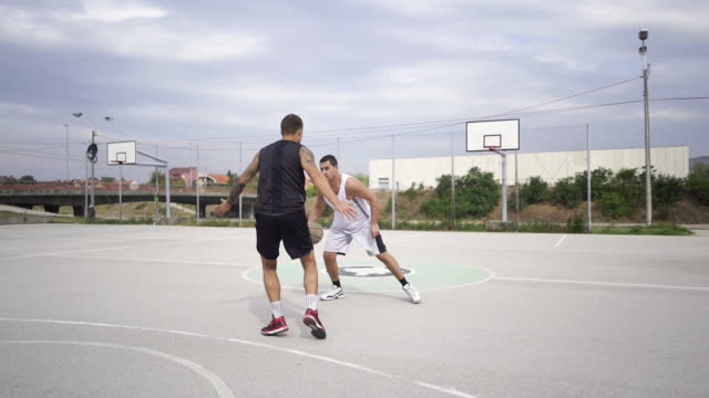 hoops in the hood - shooting baskets stock videos & royalty-free footage
