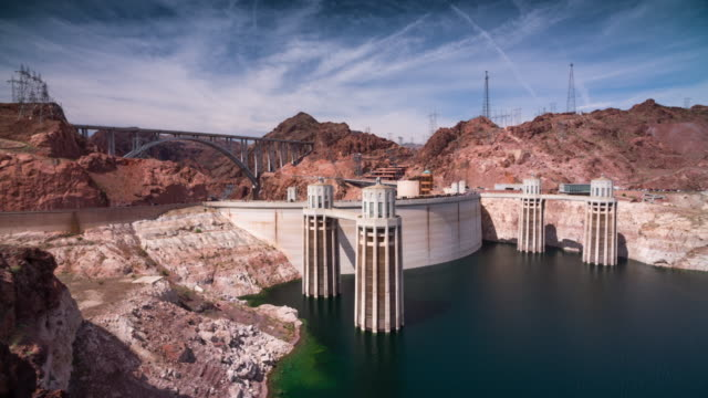 hoover dam and lake meade - black canyon stock videos & royalty-free footage