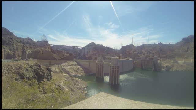 vídeos de stock, filmes e b-roll de hoover dam timelapse - represa hoover