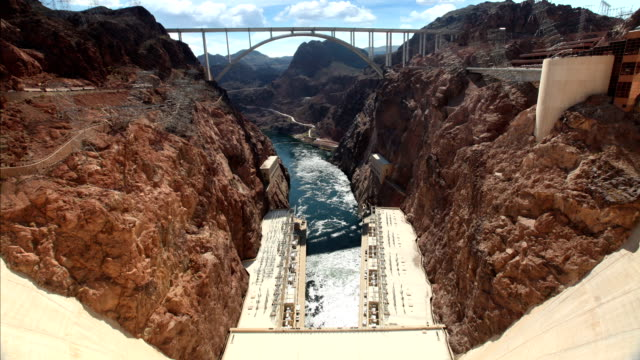hoover dam, usa - bridge built structure stock videos and b-roll footage