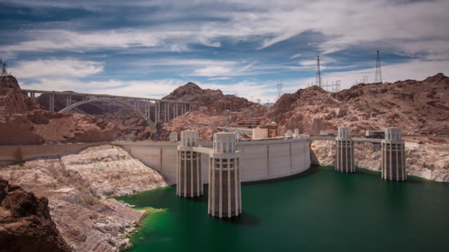 time lapse: hoover dam - clark county nevada stock videos & royalty-free footage