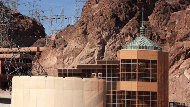 hoover dam visitor center - hoover dam stock videos and b-roll footage