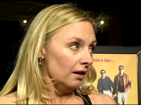 hope davis on the challenges of shooting the movie in mexico and how much she enjoyed working with pierce brosnan and greg kinnear at the los angeles... - pierce brosnan stock videos and b-roll footage