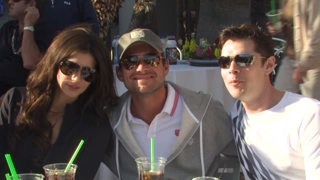 Hope Dworaczyk Christian Slater at the 6th Annual KSwiss Desert Smash at La Quinta CA