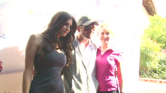 Hope Dworaczyk Christian Slater Caroline Carver at the 6th Annual KSwiss Desert Smash at La Quinta CA