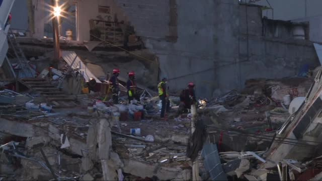 hopes of finding more survivors after mexico city's devastating earthquake have dwindled to virtually nothing nearly a week after the seismic jolt... - fade in video transition stock videos & royalty-free footage