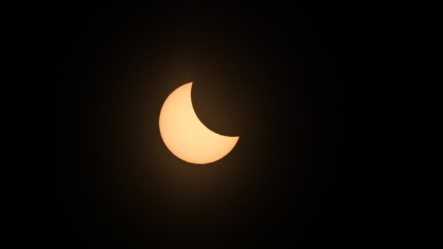 Eclipse phases progress before totality during the American total solar eclipse August 21 2017 in Hopkinsville Kentucky The last solar eclipse seen...