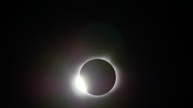 Totality begins as the moon blocks the sun during the total solar eclipse which crossed the United States August 21 2017 in Hopkinsville Kentucky The...